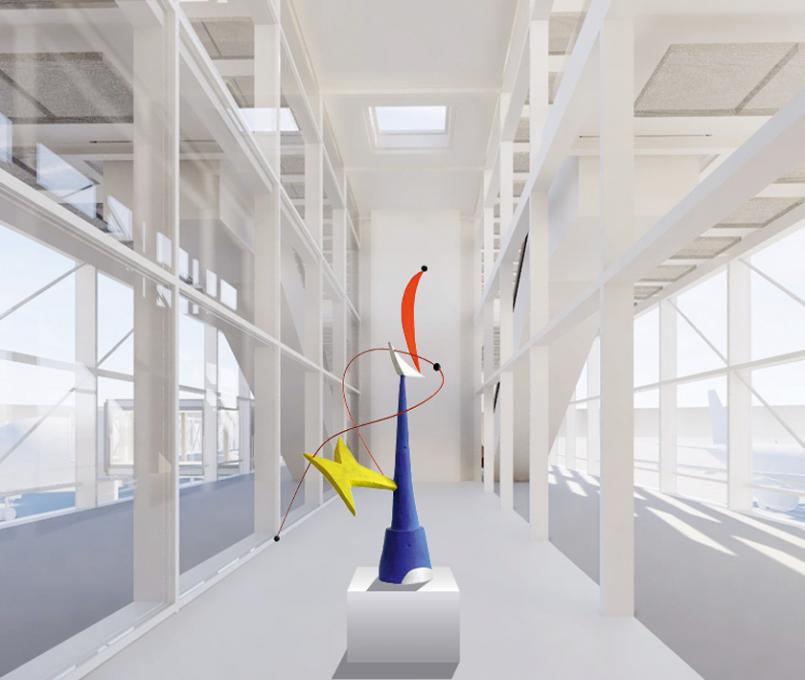 Entwurf für den begrenzt offenen Wettbewerb, Flughafen München, Erweiterung Terminal I
